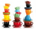 Nuova point color Cappuccino cups made in Italy